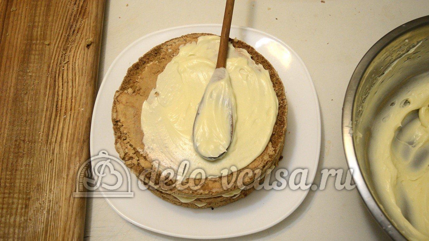 Как сделать торт из бисквита и крема
