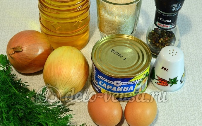 Котлеты из рыбных консервов: Ингредиенты
