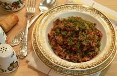 Красный рис с мясом