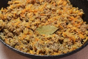 Красный рис с мясом: Добавить к мясу специи