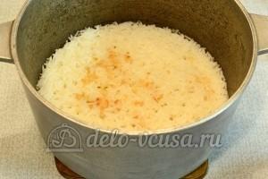 Курица с рисом в духовке: Варить 10 минут