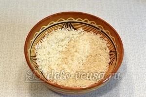 Курица с рисом в духовке: Промыть рис