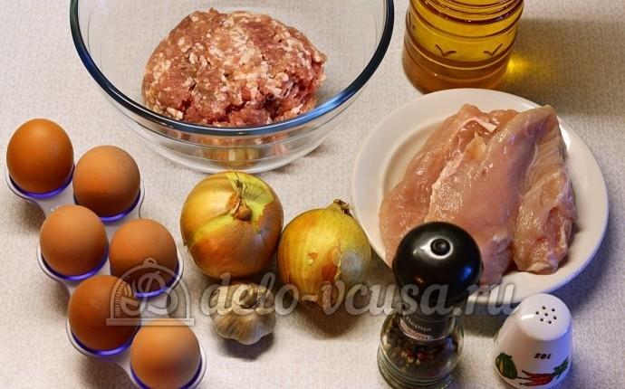 Рулет из фарша с яйцом: Ингредиенты