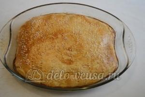 Пирог с курицей, грибами и сыром: Выпекаем пирог