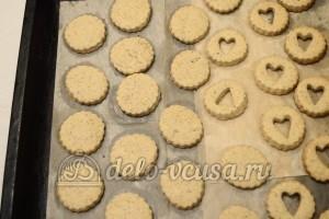 Песочное печенье с джемом: Остудить после выпекания