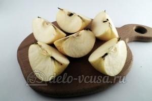 Как заморозить яблоки для начинки: Яблоки разрезать на 4 части