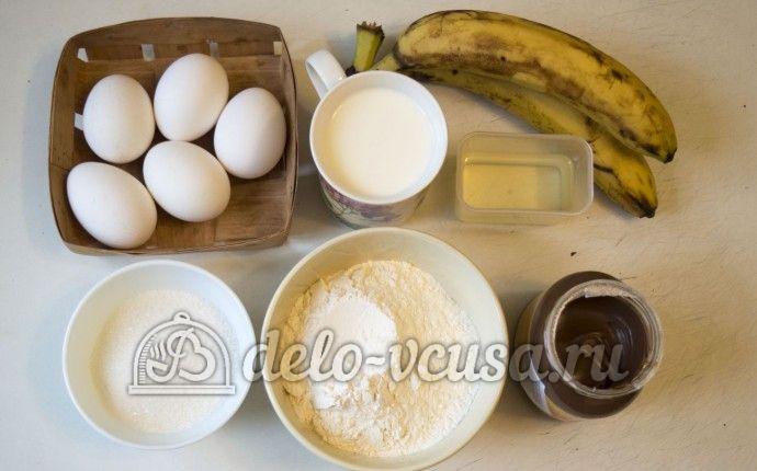 Блины с нутеллой и бананом: Ингредиенты