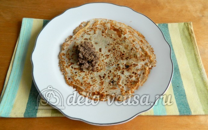 Блинчики с ливером пошаговый рецепт (9 фото)