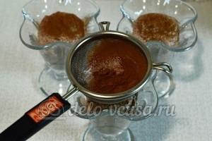 Творог с овсянкой, орехами и изюмом: Присыпать какао