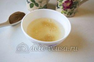 Десерт из ряженки: Залить желатин водой