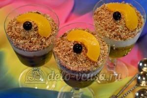 Десерт с консервированными персиками: