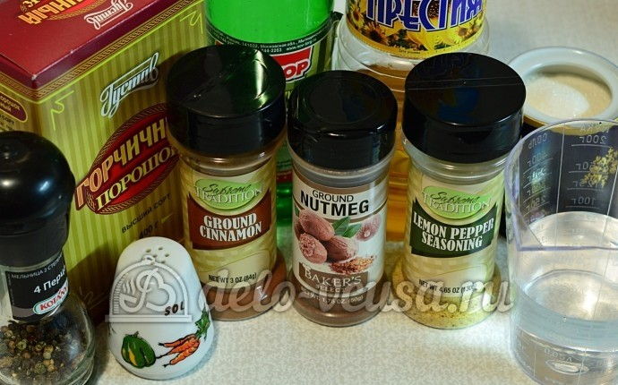 Домашняя горчица: Ингредиенты