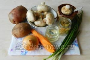 Грибной суп с вермишелью: Ингредиенты