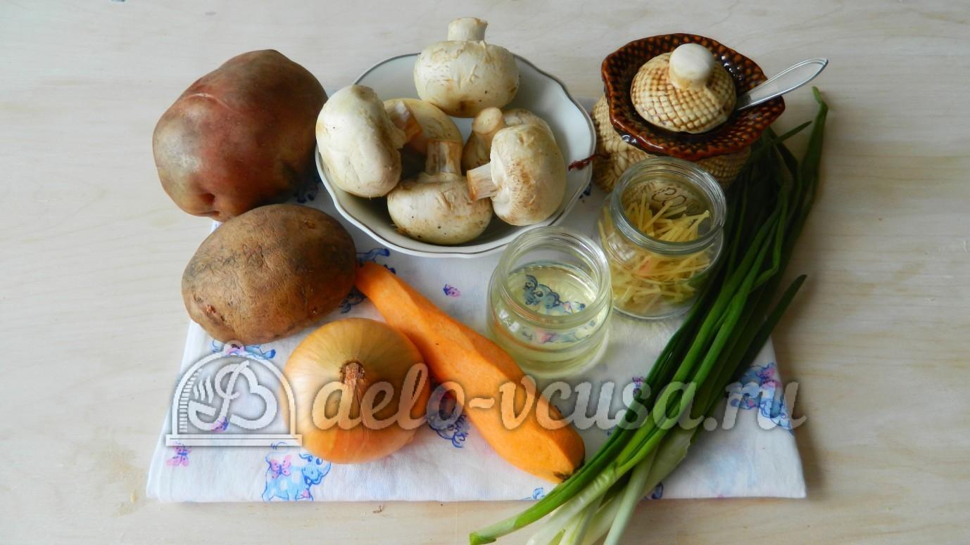 рецепт сырного супа с вермишелью и грибами