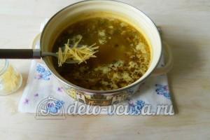 Грибной суп с вермишелью: Добавить вермишель