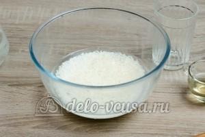 Рис для суши: Залить рис свежей водой