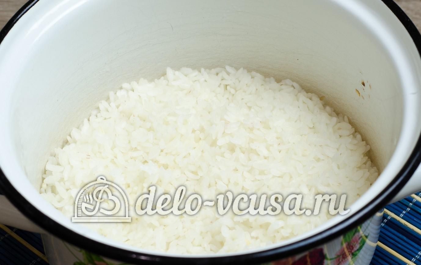 Варить обычный рис для суши