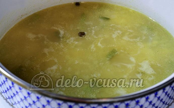 Сырный суп с фрикадельками  рецепт с фото