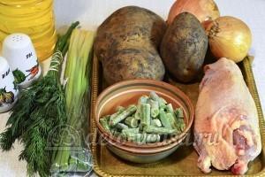 Картофельный суп с курицей: Ингредиенты