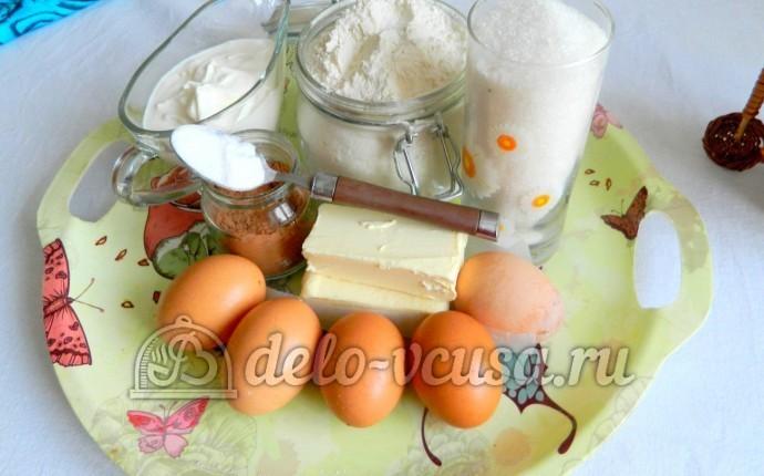 Мраморный кекс в мультиварке: Ингредиенты