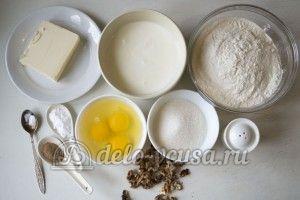 Кекс с орехами: Ингредиенты