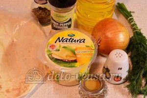 Лаваш с сыром и луком: Ингредиенты
