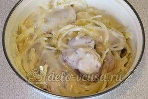 Курица маринованная в кефире в духовке: Залить кефиром и оставить мариноваться