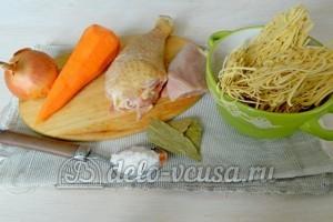 Куриный суп с лапшой: Ингредиенты