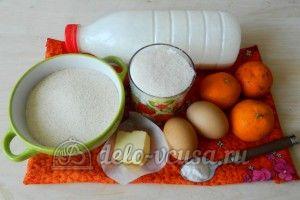 Манник с мандаринами: Ингредиенты
