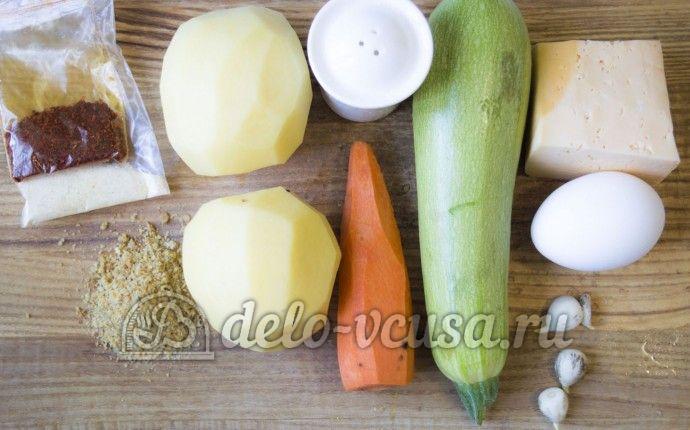 Овощные шарики с сыром: Ингредиенты