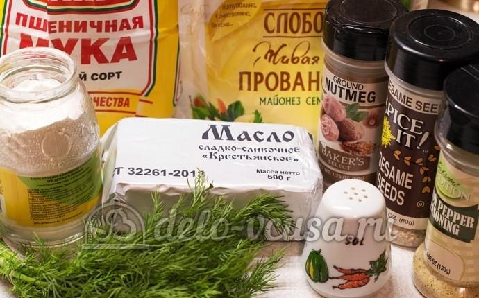 Соленое печенье на майонезе: Ингредиенты