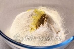 Соленое печенье на майонезе: Добавить специи