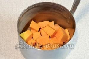 Овсяное печенье с тыквой: Нарезать тыкву