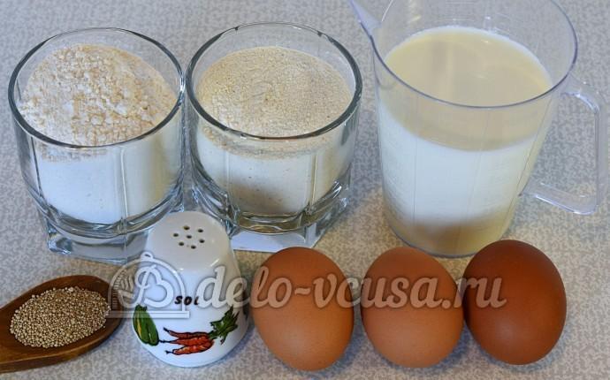 Пшенные дрожжевые блины: Ингредиенты