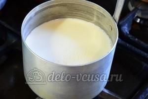 Пшенные дрожжевые блины: Нагреть молоко