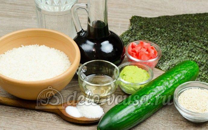 Роллы с огурцом Каппа маки: Ингредиенты