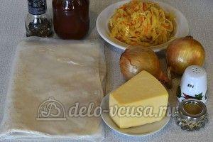 Лаваш с капустой в духовке: Ингредиенты