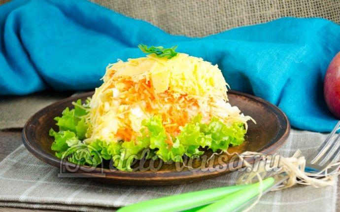 Салат из яблока, моркови и сыра