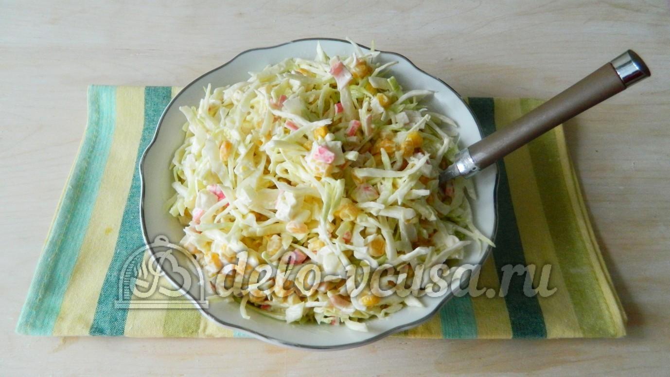 рецепт салата с крабовыми палочками и с капустой