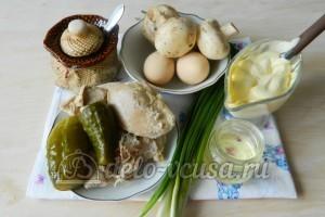 Салат Березка с курицей: Ингредиенты