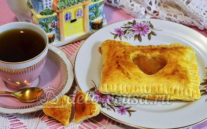 Слойки с яблочным пюре: фото блюда приготовленного по данному рецепту