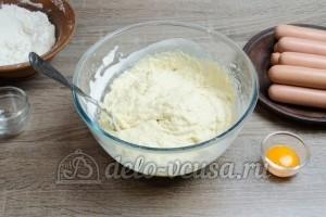 Сосиски в дрожжевом тесте: Хорошо перемешать тесто