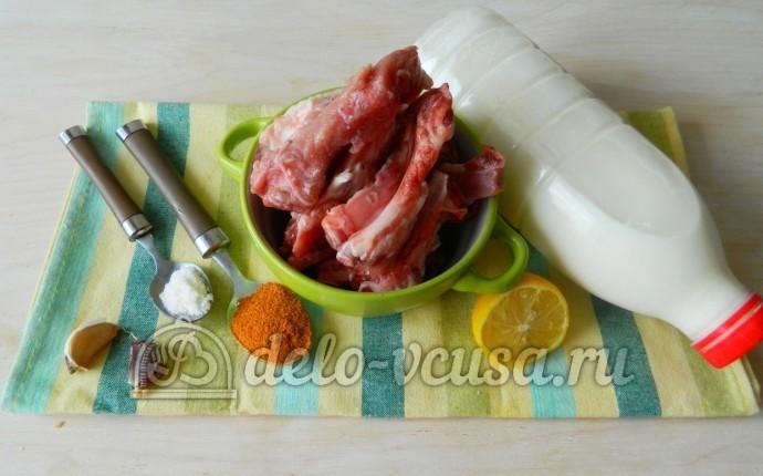Свиные ребрышки в кефире: Ингредиенты