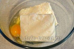 Сырники с тыквой: Соединить творог, яйцо и соль