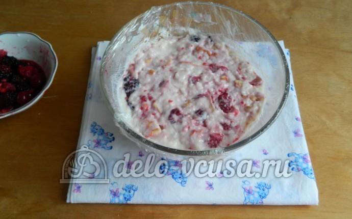 Торт с желе и сметаной