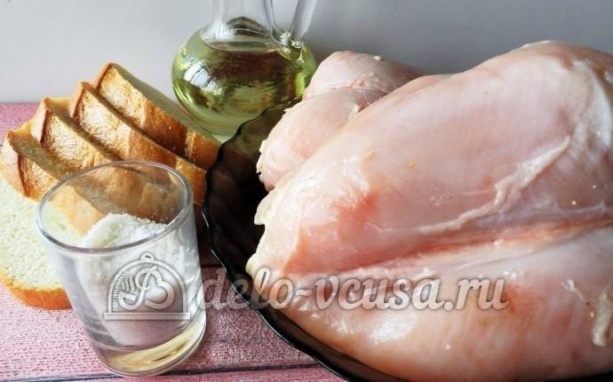 Куриное филе в сухарях: Ингредиенты
