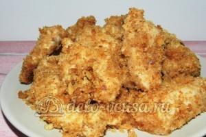Куриное филе в сухарях: Доводим до готовности