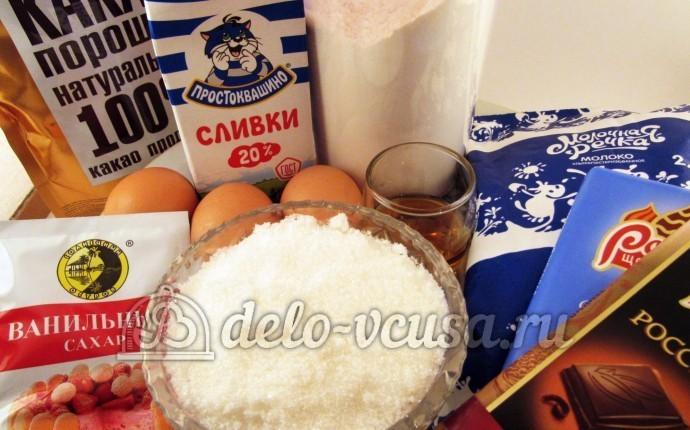 Шоколадные блинчики: Ингредиенты