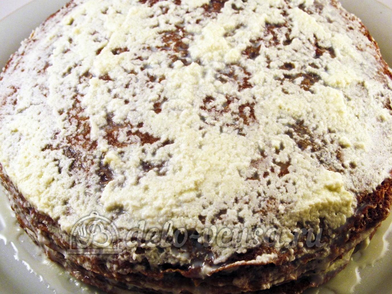 Шоколадный блинный торт: Формируем блинный торт