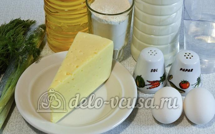 Блины с сыром и зеленью: Ингредиенты